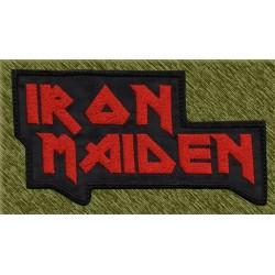 Parche bordado, iron maiden letras 2