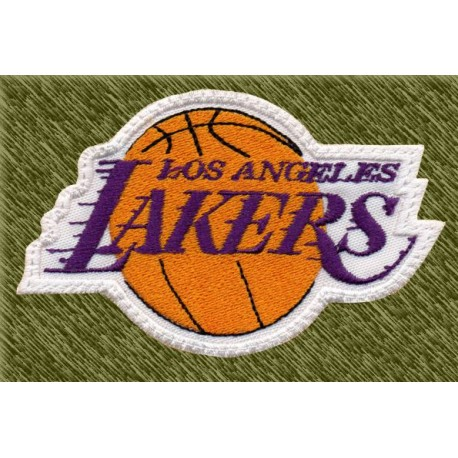 Parche bordado NBA, los angeles lakers