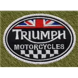 Parche bordado, triumph motorcycles bandera