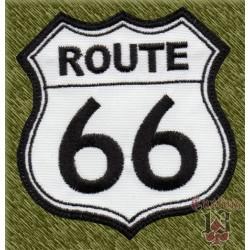 Parche bordado, route 66, fondo blanco