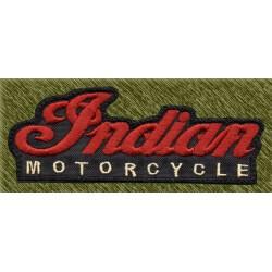 Parche bordado, Indian, letras granates