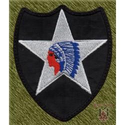 parche bordado, segundo de infantería