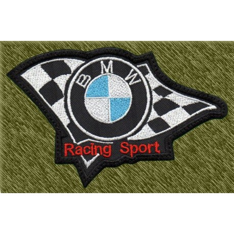 Parche bordado, bmw, racing sport