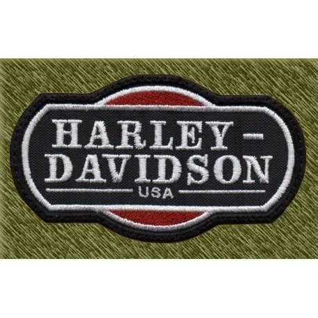 Parche bordado, harley davidson, usa