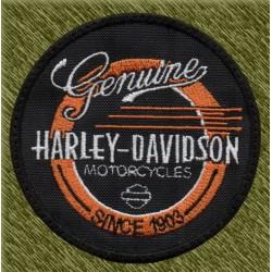 Parche bordado, genuine harley davidson