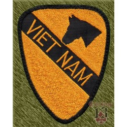 parche bordado, vietnam caballería