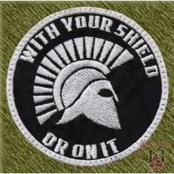 Parche bordado, whit your shield...