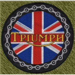 parche bordado para espalda, triumph redondo bandera