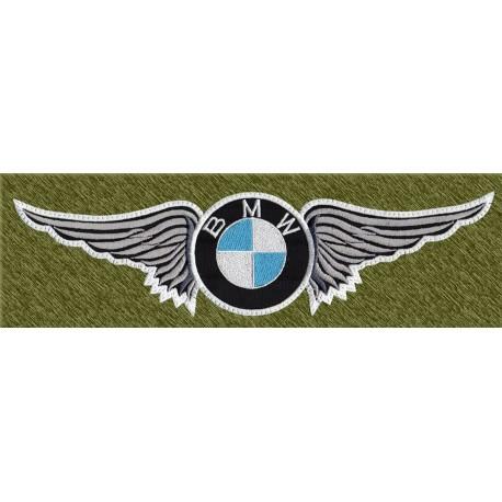 parche bordado para espalda, bmw con alas
