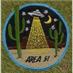 Parche bordado, area 51 desierto