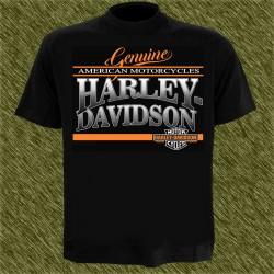 Camiseta negra, genuine harley davidson