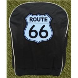 mochila negra bodada, route 66
