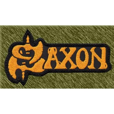 Parche bordado, saxon