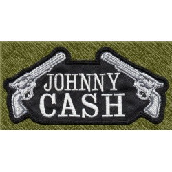 Parche bordado, johnny cash pistolas