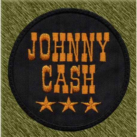 Parche bordado, johnny cash redondo