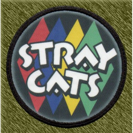 Parche sublimación, stray cats logo