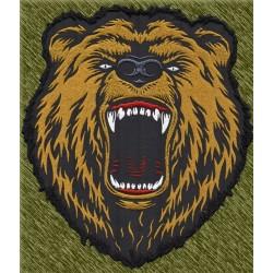parche bordado para espalda, cabeza de oso