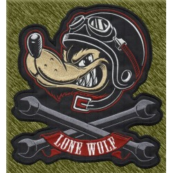parche bordado para espalda, lone wolf