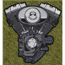 parche bordado para espalda, motor