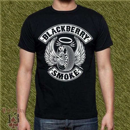 Camiseta negra, blackberry smoke, on tour