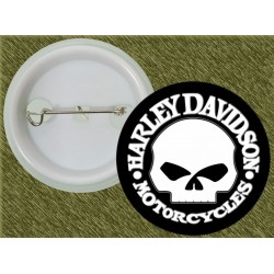 chapa harley davidson skull clasic