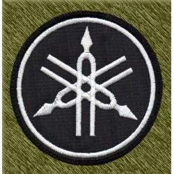 Parche bordado, yamaha logo