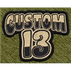 Parche bordado, custom13 beig