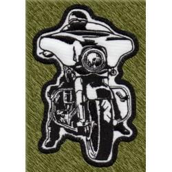 Parche bordado, biker