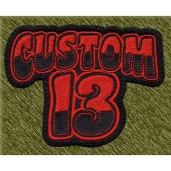 Parche bordado, custom13 rojo