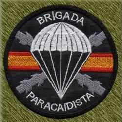 parche bordado, brigada paracaidista bandera