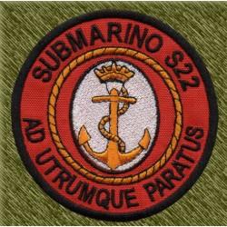 parche bordado, submarino s-22