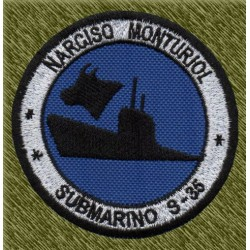parche bordado, submarino s-35