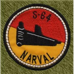 parche bordado, submarino s-64