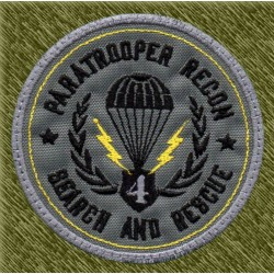 parche bordado, paratrooper recon