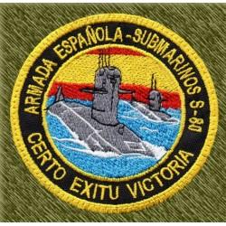 parche bordado, submarinos s-80