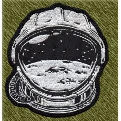 Parche bordado, casco astronauta
