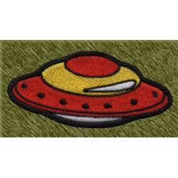 Parche bordado, ufo ovalado