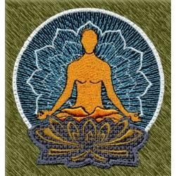 Parche flor de loto, meditación