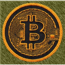 Parche bordado bitcoin