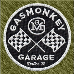 Parche bordado, gas monkey banderas