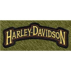 Parche bordado, rocker pequeño harley davidson