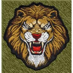 Parche bordado, cabeza de león