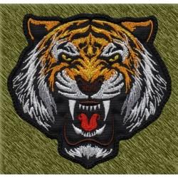 Parche bordado, cabeza de tigre