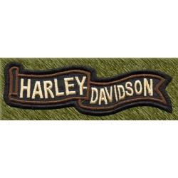 Parche bordado, banda harley marrón
