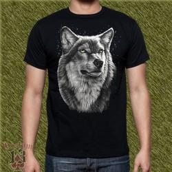 Camiseta negra, cabeza tigre custom13