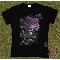 Camiseta Dark13 mujer, rosa calavera