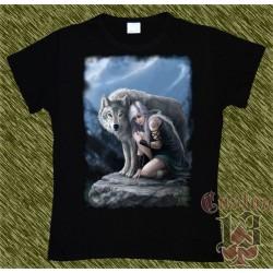 Camiseta Dark13 mujer, refugio del lobo