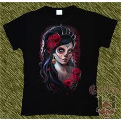 Camiseta Dark13 mujer, catrina, dia de los muertos