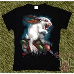 Camiseta Dark13 mujer, conejo poseido