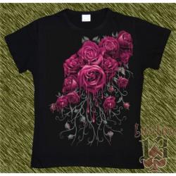Camiseta Dark13 mujer, ramo de rosas 01